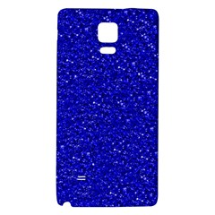 Sparkling Glitter Inky Blue Galaxy Note 4 Back Case