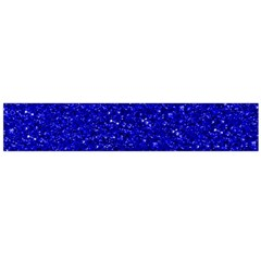 Sparkling Glitter Inky Blue Flano Scarf (large)