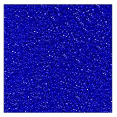 Sparkling Glitter Inky Blue Large Satin Scarf (square)