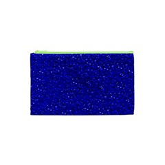 Sparkling Glitter Inky Blue Cosmetic Bag (XS)