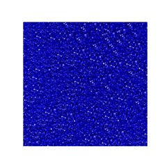 Sparkling Glitter Inky Blue Small Satin Scarf (Square)