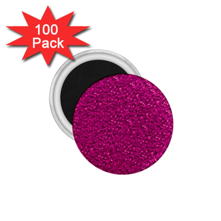 Sparkling Glitter Pink 1.75  Magnets (100 pack)
