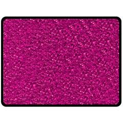 Sparkling Glitter Pink Fleece Blanket (Large)