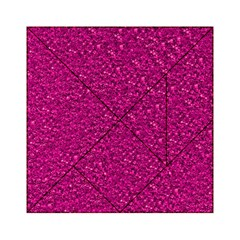 Sparkling Glitter Pink Acrylic Tangram Puzzle (6  x 6 )