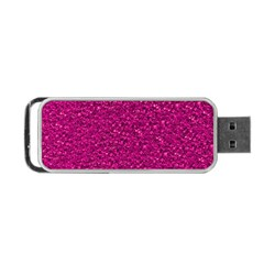 Sparkling Glitter Pink Portable USB Flash (One Side)