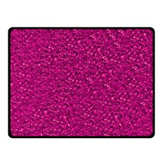 Sparkling Glitter Pink Double Sided Fleece Blanket (small)