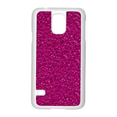 Sparkling Glitter Pink Samsung Galaxy S5 Case (white)