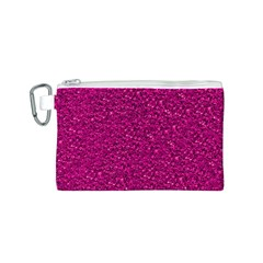 Sparkling Glitter Pink Canvas Cosmetic Bag (s)
