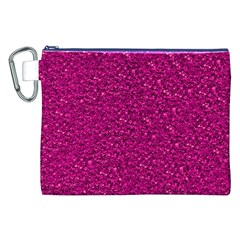 Sparkling Glitter Pink Canvas Cosmetic Bag (XXL)