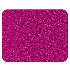 Sparkling Glitter Pink Double Sided Flano Blanket (Medium)