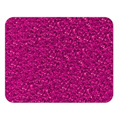 Sparkling Glitter Pink Double Sided Flano Blanket (large)