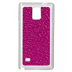 Sparkling Glitter Pink Samsung Galaxy Note 4 Case (white)