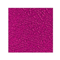 Sparkling Glitter Pink Small Satin Scarf (Square)