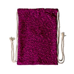 Sparkling Glitter Pink Drawstring Bag (Small)