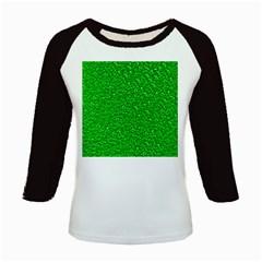 Sparkling Glitter Neon Green Kids Baseball Jerseys