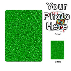 Sparkling Glitter Neon Green Multi-purpose Cards (Rectangle)