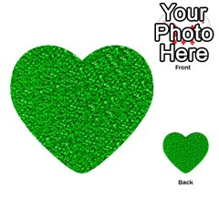 Sparkling Glitter Neon Green Multi Purpose Cards (heart)