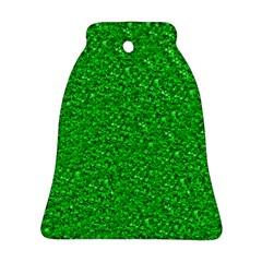 Sparkling Glitter Neon Green Bell Ornament (2 Sides)