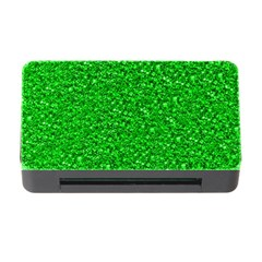 Sparkling Glitter Neon Green Memory Card Reader With Cf