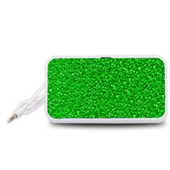 Sparkling Glitter Neon Green Portable Speaker (White)
