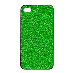Sparkling Glitter Neon Green Apple Iphone 4/4s Seamless Case (black)