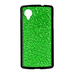 Sparkling Glitter Neon Green Nexus 5 Case (Black)