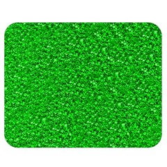 Sparkling Glitter Neon Green Double Sided Flano Blanket (Medium)