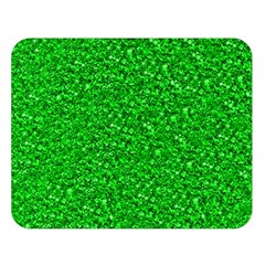 Sparkling Glitter Neon Green Double Sided Flano Blanket (Large)