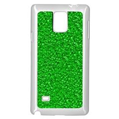 Sparkling Glitter Neon Green Samsung Galaxy Note 4 Case (white)