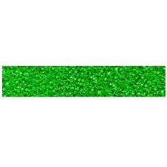Sparkling Glitter Neon Green Flano Scarf (Large)