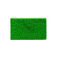 Sparkling Glitter Neon Green Cosmetic Bag (XS)