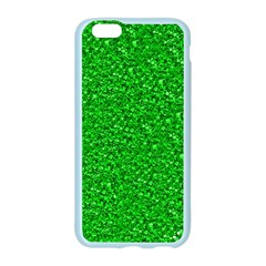 Sparkling Glitter Neon Green Apple Seamless iPhone 6 Case (Color)