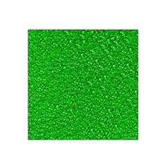 Sparkling Glitter Neon Green Satin Bandana Scarf