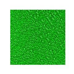 Sparkling Glitter Neon Green Small Satin Scarf (Square)