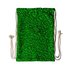 Sparkling Glitter Neon Green Drawstring Bag (Small)
