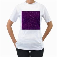 Sparkling Glitter Plum Women s T Shirt (white) (two Sided)