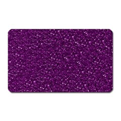 Sparkling Glitter Plum Magnet (rectangular)