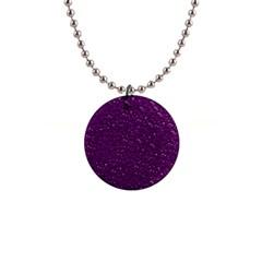 Sparkling Glitter Plum Button Necklaces