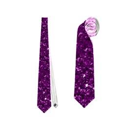 Sparkling Glitter Plum Neckties (One Side)