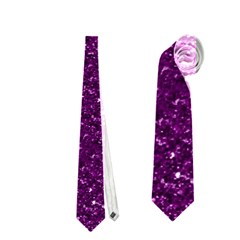 Sparkling Glitter Plum Neckties (Two Side)