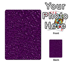 Sparkling Glitter Plum Multi-purpose Cards (Rectangle)