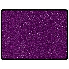 Sparkling Glitter Plum Fleece Blanket (Large)