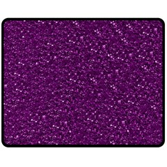 Sparkling Glitter Plum Fleece Blanket (Medium)
