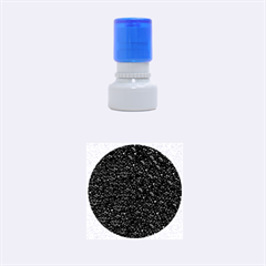 Sparkling Glitter Plum Rubber Round Stamps (small)