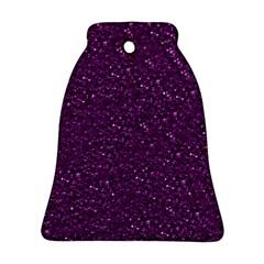 Sparkling Glitter Plum Ornament (Bell)