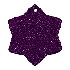 Sparkling Glitter Plum Snowflake Ornament (2-Side)