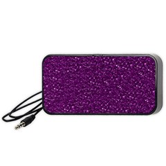 Sparkling Glitter Plum Portable Speaker (Black)