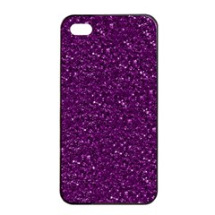 Sparkling Glitter Plum Apple iPhone 4/4s Seamless Case (Black)