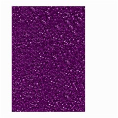 Sparkling Glitter Plum Small Garden Flag (two Sides)
