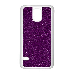 Sparkling Glitter Plum Samsung Galaxy S5 Case (white)